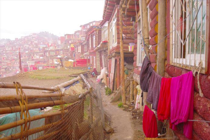 ラルンガルゴンパの朝の景色 (1)_R
