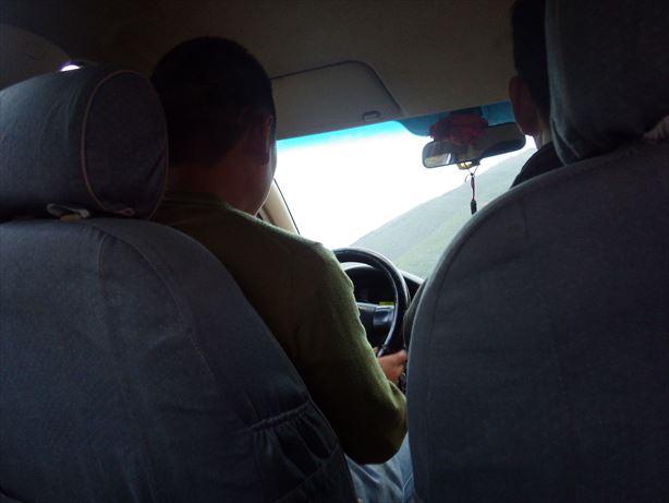馬爾康タクシーで駅まで_R