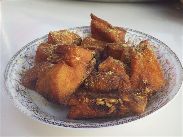 カシュガルバザール白身魚のフライ