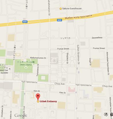 ウズベキスタン大使館マップ