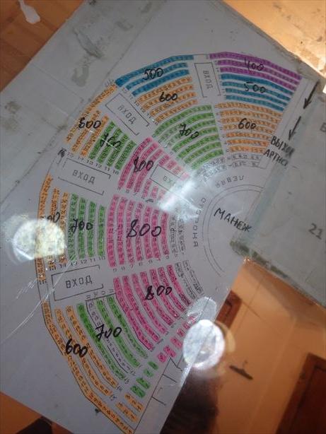 サーカス座席表