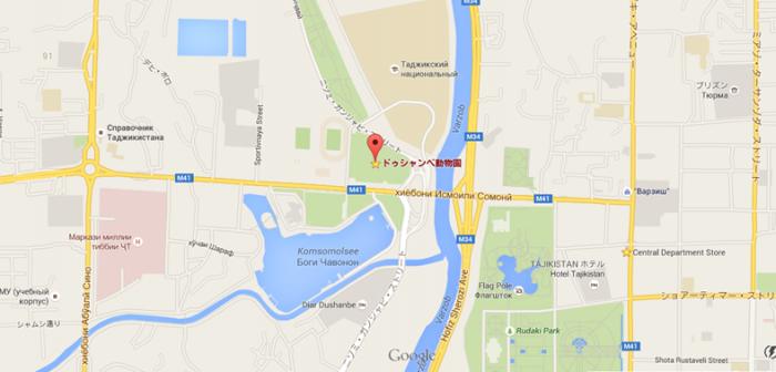 ドゥシャンベ動物園マップ