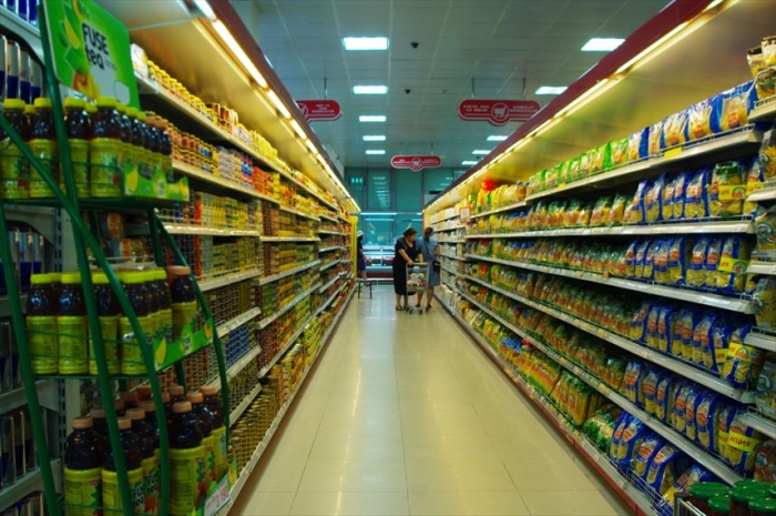 宿近くのスーパーでお買い物 (4)