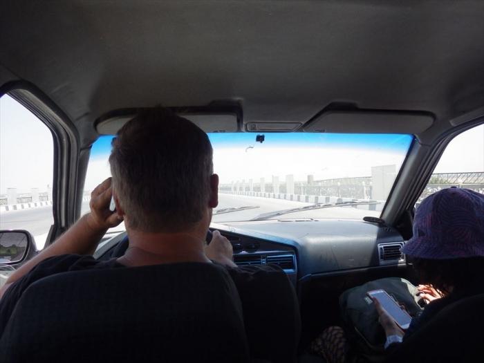 ブハラへタクシー移動 (1)