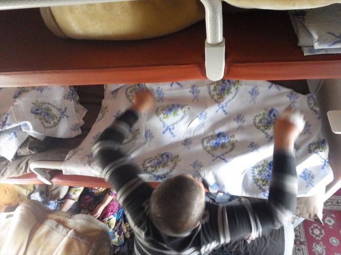 寝台列車でトルクメンバシへ (4)
