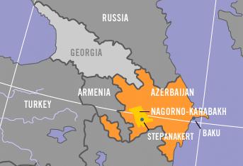 ナゴルノ・カラバフ地図